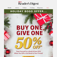 HOLIDAY BOGO! Buy 1 Book, Give 1 at 50% Off