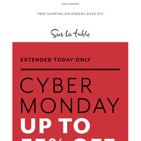 Last chance—Cyber Monday up to 55% off.