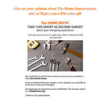 Is there anything you don't like about The Home Improvement? Let us know and we'll Offer you