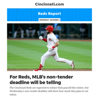 Reds Report:For Cincinnati Reds, MLB's non-tender deadline will be telling; Eric Jagers named to staff