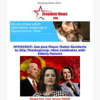 HYPOCRISY: San Jose Mayor Makes Residents to Skip Thanksgiving—then Celebrates with Elderly Parents