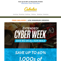 Our Cyber Week deals have been extended! Save BIG