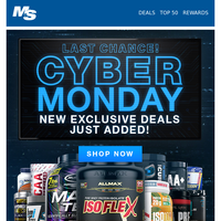 Last Chance for Cyber Monday Deals