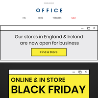 Black Friday now in store & online