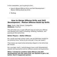 Merging Offense Drills with Skill Development