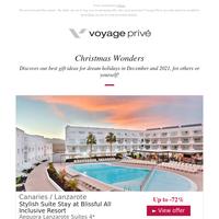 🎁 Christmas Shopping List: Lanzarote, Punta Cana, Dubai & More, up to -80%