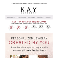 It's not too late to create a personalized gift for your love