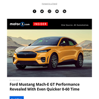 Mustang Mach-E GT Performance Revealed, Mazda CX-30 Turbo Priced, Supercharged C8 Teased