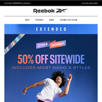 Cyber Monday Extended: 50% OFF