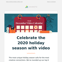 Your December video inspiration is here 📆