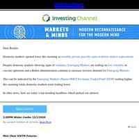 U.S. Markets Drop as This Market Pops...