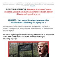Ruth Bader Ginsburg State Park??