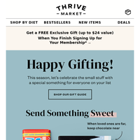 Our holiday guide = Gifting made easy 🎁