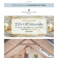 Surprise! One more day to save sitewide