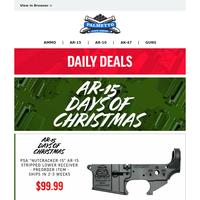 AR-15 Days of Christmas Deals | Nutcracker-15 Stripped Lower Receiver $99.99
