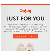 Gift What?  We just sent you a surprise!