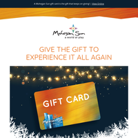 Give The Gift To Experience It All Again At Mohegan Sun
