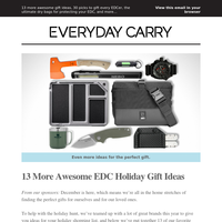 13 More Awesome EDC Holiday Gift Ideas🔪🔦⌚