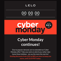 Last Call for Cyber Monday!