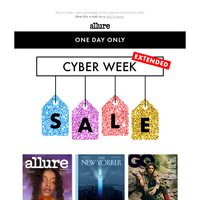 Cyber Monday Sale - Extended. All magazines just $5!