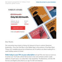 Offer Inside: Subscribe for A Year of Good Reads