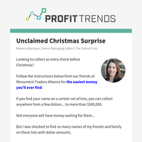 Unclaimed Christmas Surprise