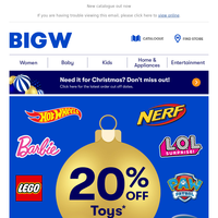 20% Off Toys + More Inside!