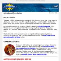 Astrodienst Newsletter December 2020