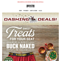 Buck Up Your Gift List - Buck Naked Underwear From $14.50!