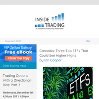 Cannabis: Three Top ETFs That Could See Higher Highs