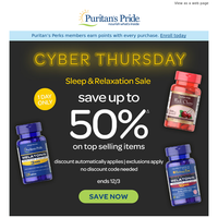 (TODAY ONLY) Save up to 50% OFF Sleep Support