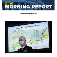 The Hill's Morning Report - Presented by Mastercard - 1/ First COVID-19 doses shipped throughout US today; most Americans must wait until spring for inoculations. 2/ Biden's winning 306 Electoral College votes to be certified by states today. 3/ B