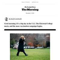 The Morning: A big day in the U.S.