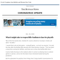 Covid-19: What it might take to reopen Bills Stadium to fans for playoffs