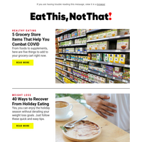 5 Grocery Store Items That Help You Combat COVID