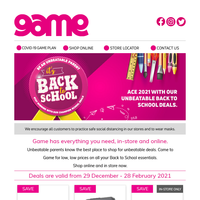 📚Getting back to school is easy with Game's low, low prices.