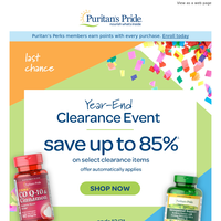 Close out 2020 with Clearance Savings