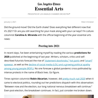 Essential Arts: Facing 2021 with 0 predictions and 1 poem