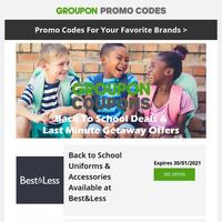 Back to School Supplies & Last Minute Getaways - Adidas, Zookal, Best&Less, Booking.com, Foot Locker & More!