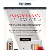 25% Off Supplements