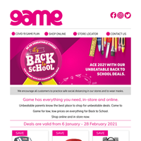 📚Getting back to school is easy with Game's everyday low, low prices.