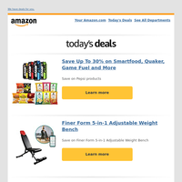 Save Up To 30% on Smartfood, Quaker, Game Fuel...