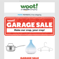 We're having a Garage Sale! Don't miss out!