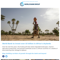 World Bank to invest over $5B in Africa's drylands