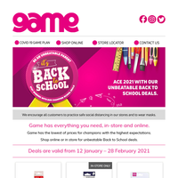 📙Game's got unbeatable Back to School deals for everyone.