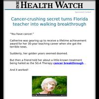 Cancer-crushing secret turns Florida teacher into walking breakthrough