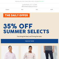 SUMMER SELECTS ☀️ 35% OFF FASHION + SHOES