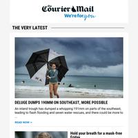 Deluge dumps 190mm on southeast | Cyclone downgraded | Fury over Brisbane school site proposal