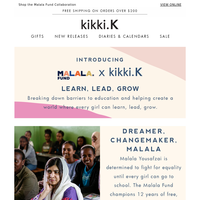 Malala Fund x kikki.K - Back To School with a difference 💙