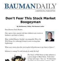 Don't Fear This Stock Market Boogeyman